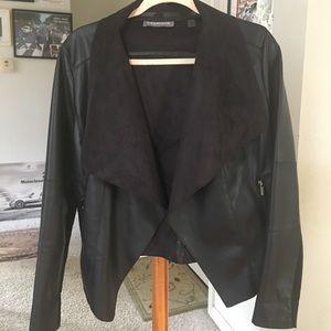 Bagatelle Faux Leather with Faux Suede Lapels